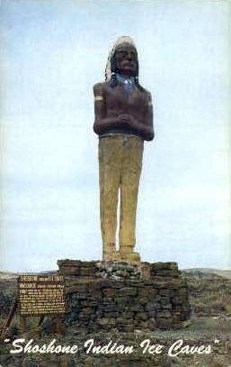 Chief Washakie-Shoshone Indian Ice Caves - Misc, Idaho ID Postcard