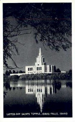 Latter Day Saints Temple - Idaho Falls Postcards, Idaho ID Postcard