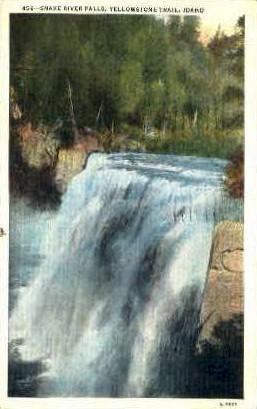 Snake River Falls, Yellowstone Trail - Misc, Idaho ID Postcard