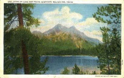 Stanley Lake, Sawtooth Mountains - Misc, Idaho ID Postcard