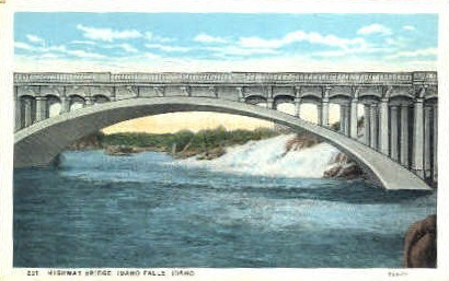 Highway Bridge - Idaho Falls Postcards, Idaho ID Postcard