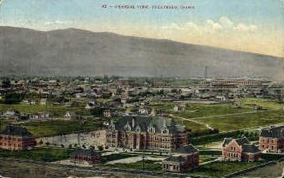 General View - Pocatello, Idaho ID Postcard