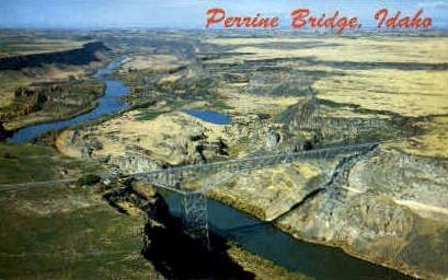 Perrine Bridge - Misc, Idaho ID Postcard