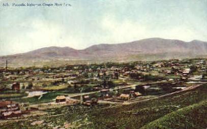 On Oregon Short Line - Pocatello, Idaho ID Postcard