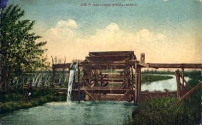 Irrigation Wheel - Misc, Idaho ID Postcard