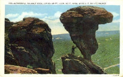 Balance Rock - Misc, Idaho ID Postcard