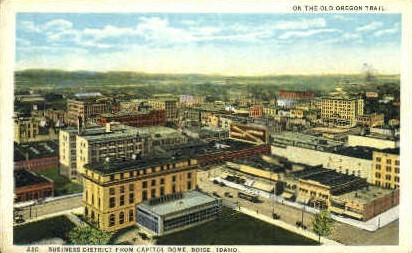 Business District - Boise, Idaho ID Postcard