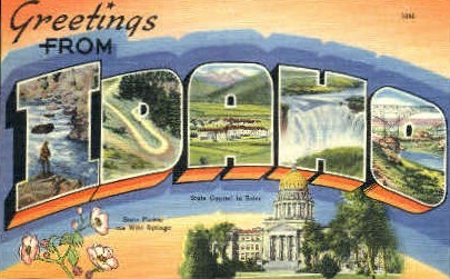 Greetings From - Misc, Idaho ID Postcard