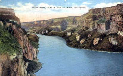 Snake River Canyon - Misc, Idaho ID Postcard