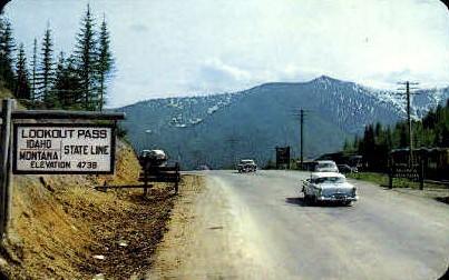 Lookout Pass - Misc, Idaho ID Postcard