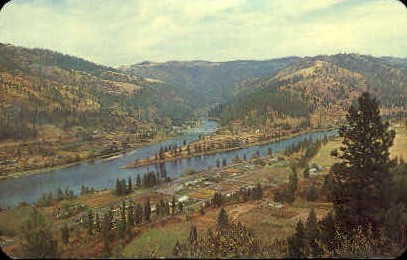Canoe Camp - Misc, Idaho ID Postcard