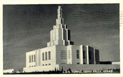 L.D.S. Temple - Idaho Falls Postcards, Idaho ID Postcard