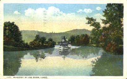 Shadowy St. Joe River - Misc, Idaho ID Postcard