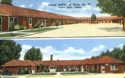 Kruse Motel - Idaho Falls Postcards, Idaho ID Postcard