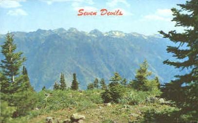 seven Devils - Misc, Idaho ID Postcard