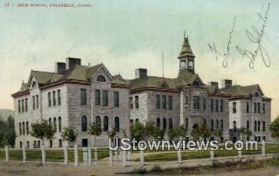 High School, Pocatello - Idaho ID Postcard