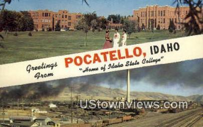Pocatello, Idaho,s;   Pocatello, ID Postcard