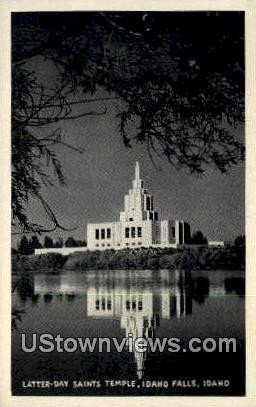 Real Photo - Latter Day Saints - Idaho Falls Postcards, Idaho ID Postcard