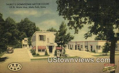 Talbot's Downtown Motor Court - Idaho Falls Postcards, Idaho ID Postcard