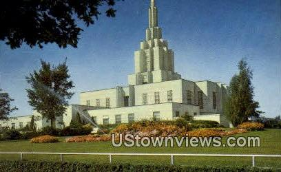 Mormon Temple - Idaho Falls Postcards, Idaho ID Postcard