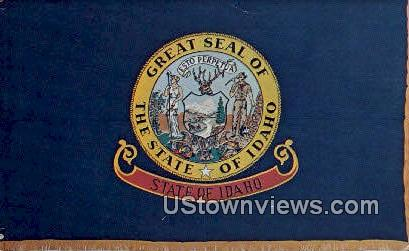 Idaho State Flag - Misc Postcard