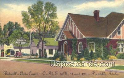 Bidwell's Auto Court - Pocatello, Idaho ID Postcard
