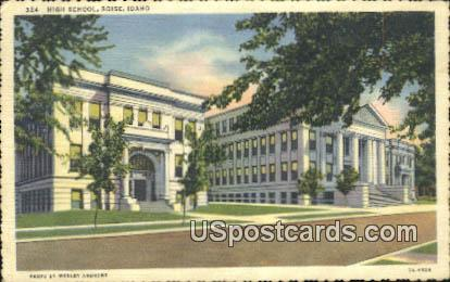 High School - Boise, Idaho ID Postcard