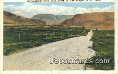 Auto Road - Misc, Idaho ID Postcard