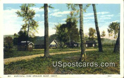 Municipal Camp Grounds - Boise, Idaho ID Postcard