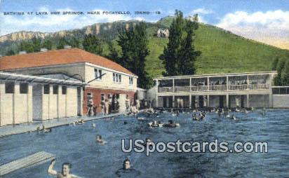 Lava Hot Springs - Pocatello, Idaho ID Postcard