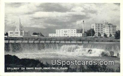 Spillway on Snake River - Idaho Falls Postcards, Idaho ID Postcard