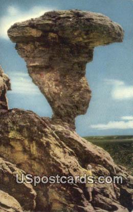 Balanced Rock - Buhl, Idaho ID Postcard