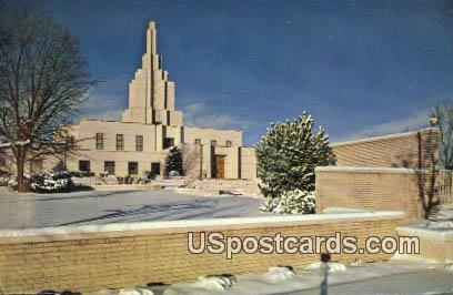 LDS Mormon Temple - Idaho Falls Postcards, Idaho ID Postcard