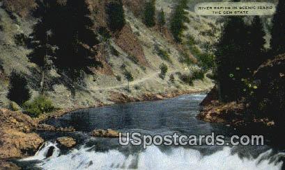 River Rapids - Misc, Idaho ID Postcard