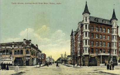 Tenth Street - Boise, Idaho ID Postcard