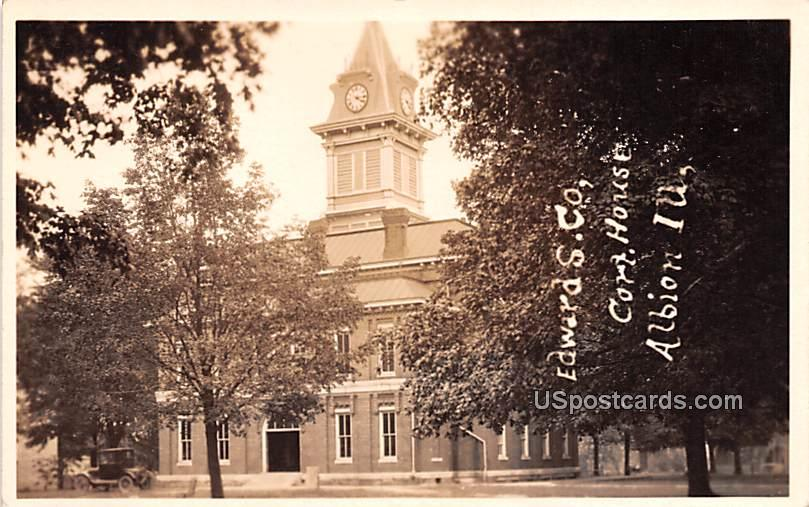Edward S County Court House - Albion, Illinois IL Postcard