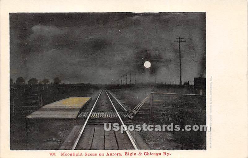 Chicago Railway - Aurora, Illinois IL Postcard