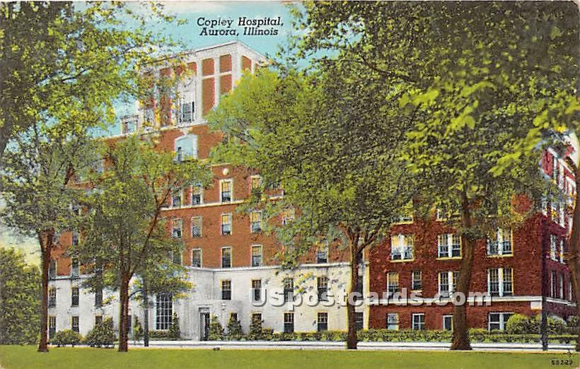 Copley Hospital - Aurora, Illinois IL Postcard