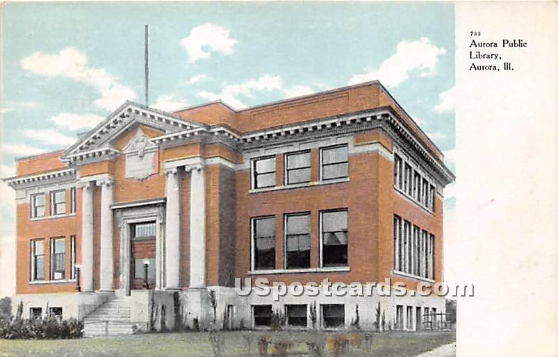 Aurora Public Library - Illinois IL Postcard