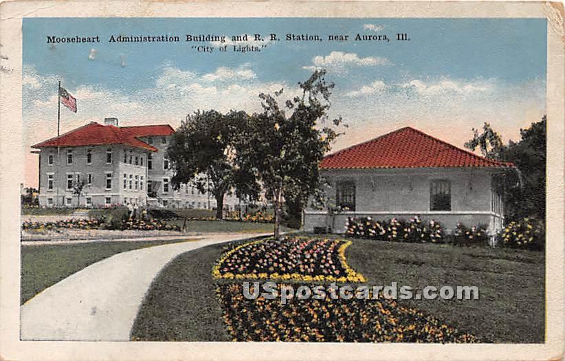 Mooseheart Administration Building - Aurora, Illinois IL Postcard