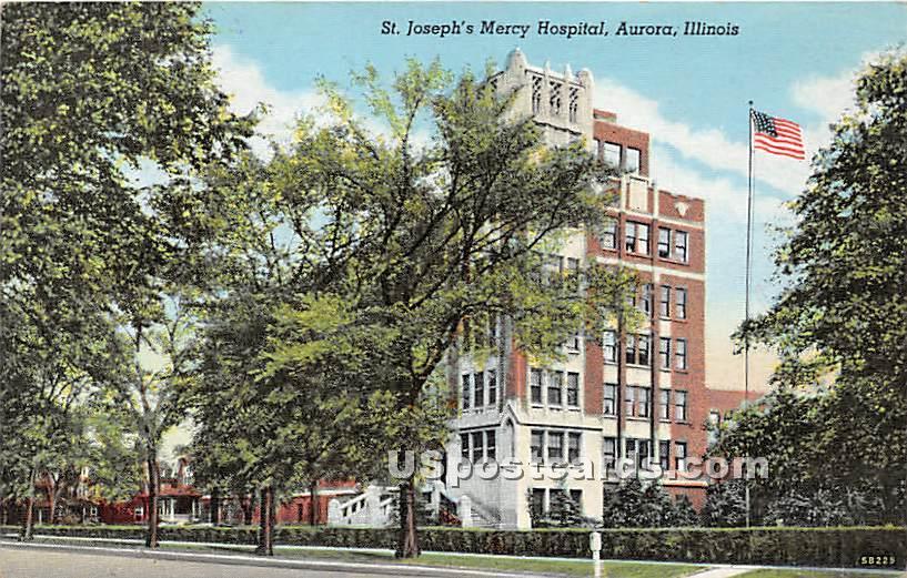 St Joseph's Mercy Hospital - Aurora, Illinois IL Postcard
