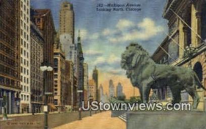 Michigan Avenue North - Chicago, Illinois IL Postcard