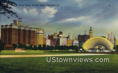 Band Shell  - Chicago, Illinois IL Postcard
