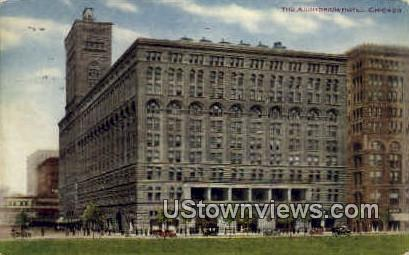 The Auditorium Hotel - Chicago, Illinois IL Postcard