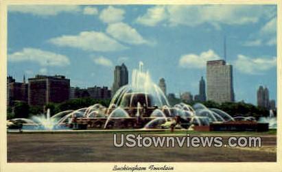 Clearance Buckingham Fountian - Chicago, Illinois IL Postcard