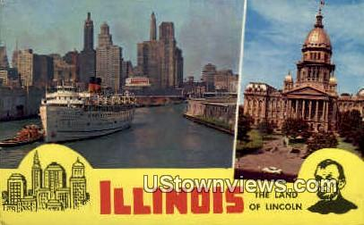 Illinois State Capitol - Chicago Postcard