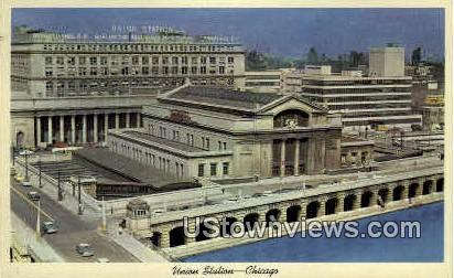 Union Station  - Chicago, Illinois IL Postcard