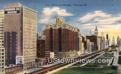 New Michigan Avenue - Chicago, Illinois IL Postcard