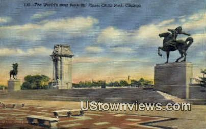 Grant Park - Chicago, Illinois IL Postcard
