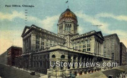 Post Office - Chicago, Illinois IL Postcard